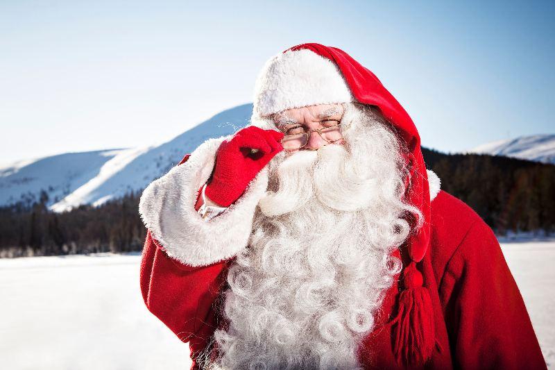 Привет от Санта-Клауса на Новый год