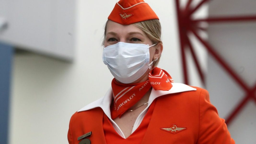 масочный режим на борту авиакомпании