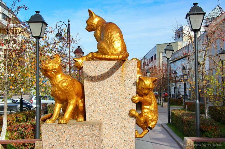 Сквер Сибмрских кошек. Место исполнения желаний